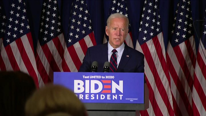 Democrat presidential hopeful Joe Biden