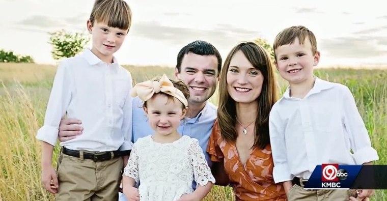 A family photo of Pastor Adam Carter