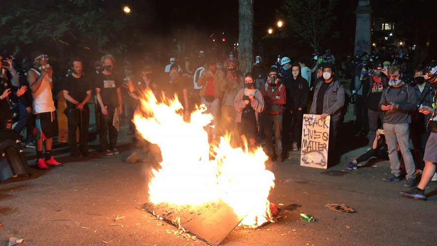 """Black Lives Matter"" Protesters Burn Bibles"