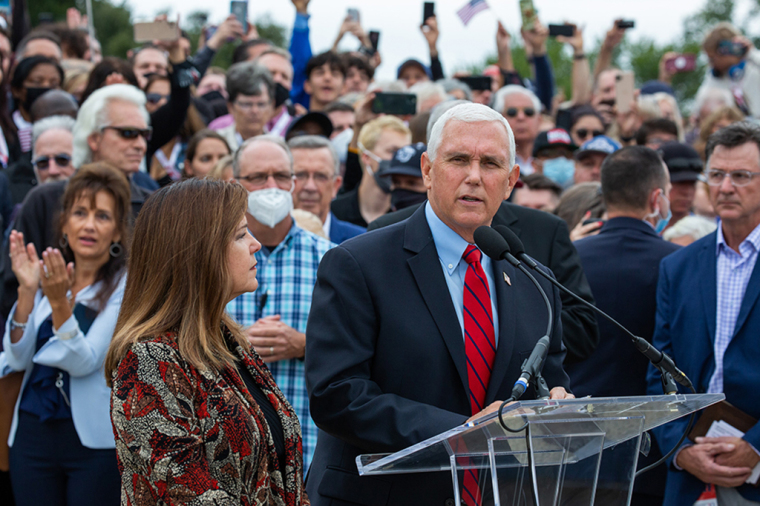 Vice President Mike Pence and second lady Karen Pence at the Prayer March in Washington, D.C., on September 26, 2020.