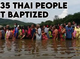 1,435 Thai People Accept Jesus Christ and get Baptized on September 6th, 2020.