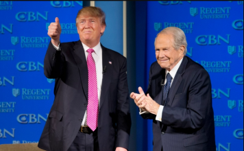 President Donald Trump with CBN Founder Pat Robertson