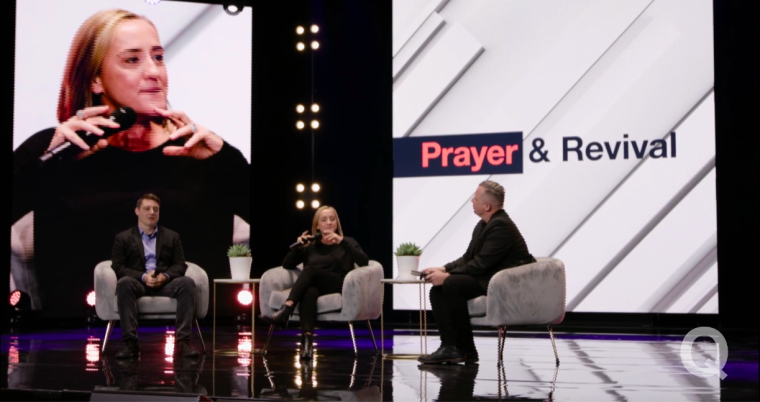 Christine Caine participates in the 2020 Q&A: A Virtual Townhall event alongside Pastor Jon Tyson and author Corey Russell. | Q Conference