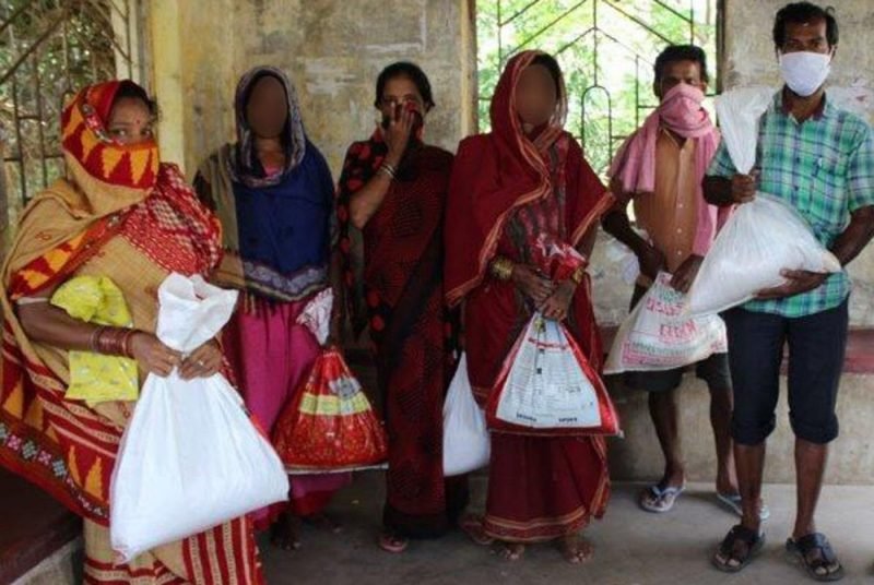 Open Doors Gives Food to Indian Christians during global pandemic | source: Open Doors