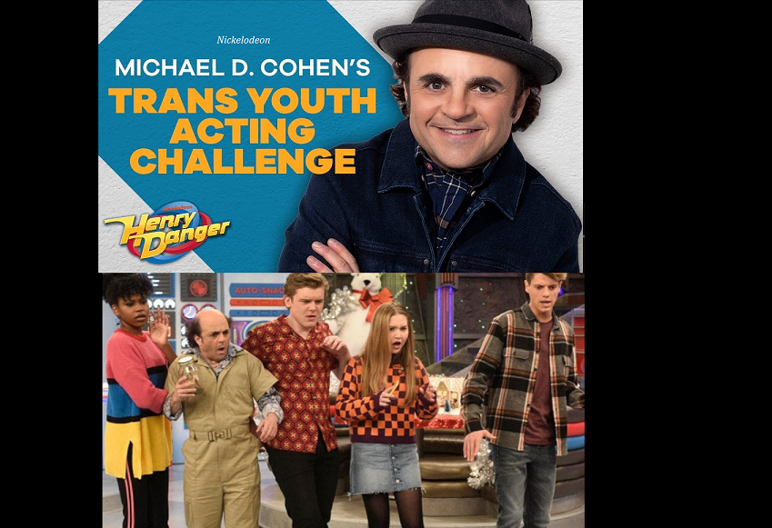 Nickelodeon introduces 'trans youth acting challenge' with transgender actor Michael D. Cohen