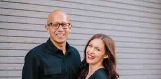 Former porn star Brittni De La Mora and her husband Rich. |